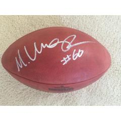 Max Unger Autographed Seahawks Super Bowl XLVIII Champs Football