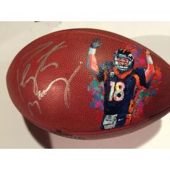 Peyton Manning Painted Football by Al Sorenson