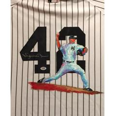 Mariano Rivera Hand Painted Jersey by Al Sorenson