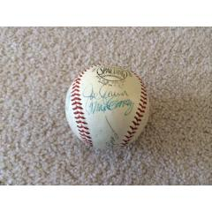 Baseball with Signatures of 21 Hall of Fame Inductees (1950-69)