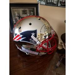 Tom Brady Autographed Chrome Patriots Helmet