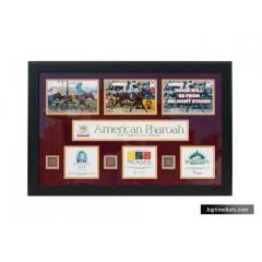 American Pharoah Framed Triple Crown Presentation