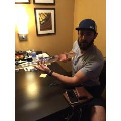 Jake Arrieta Autographed No Hitter Transluscent Bat