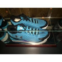 Steph Curry Autographed Carolina Blue Low Top Shoes