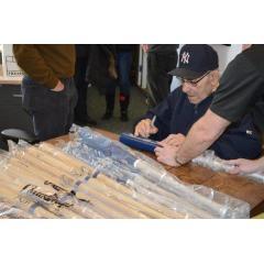 Yogi Berra Autographed 5 Consecutive World SeriesTitles Bat