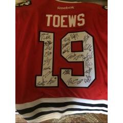 Chicago Blackhawks Authentic Team Signed Jersey