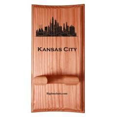 Kansas City Skyline Custom Bat Display Rack