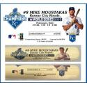 Mike Moustakas Postseason Tribute Bat