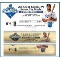 Alex Gordon Postseason Tribute Bat