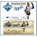 Salvador Perez World Series MVP Bat