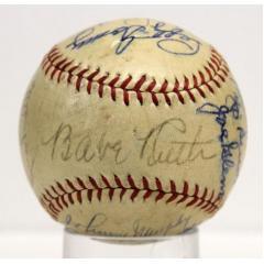 Ultimate Yankees Stars Autographed Baseball