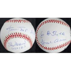 Very Rare - 6,000 Total Bases Club - 3 Signature Ball