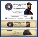 Dallas Keuchel 2015 AL Cy Young Award Commemorative Bat