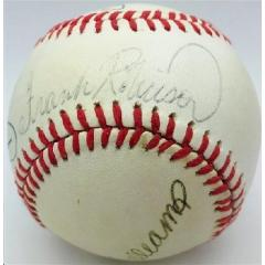 Baseball Triple Crown Winners Signed Baseball