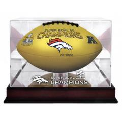 Exclusive Broncos Super Bowl 50 Champs Gold Ball & Display Case
