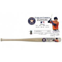 Carlos Correa 2015 AL Rookie of the Year Commemorative Bat
