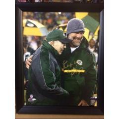 Brett Favre Signed & Inscribed 16x20 Photo on Canvas