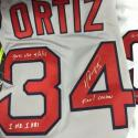 David Ortiz Signed & Multi-Inscribed Game Used Jersey