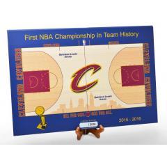 Cavaliers Championship Quicken Loan Arena Mini Court in 1/60th Scale