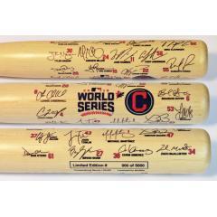 Indians 2016 World Series Team Signature Bat