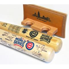Cubs 2016 NL Pennant & World Series Champs Two Bat Set with FREE Display Rack