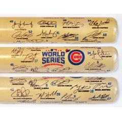 Chicago Cubs 2016 NL Pennant Team Signature Bat