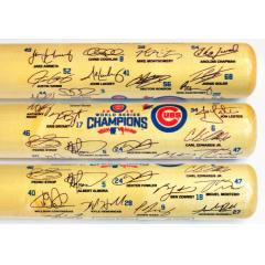 Cubs 2016 World Series Champions Team Signature Bat