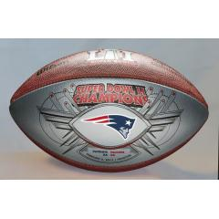 Patriots Super Bowl LI Champions SILVER Game Ball