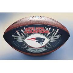 Patriots Super Bowl LI Champions Commemorative BLUE Game Ball