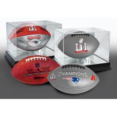 Patriots Super Bowl LI Champions Two Ball Set with Display Cases