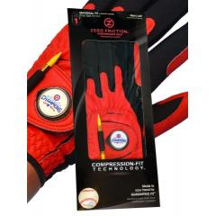 Cubs Red Men's Golf Glove with World Champs Ball Marker