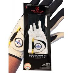 Cubs White Men's Golf Glove with World Champs Ball Marker