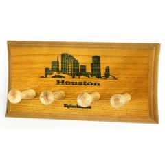 Houston Skyline Two Bat Display Rack