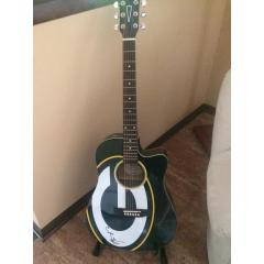 Aaron Rodgers Signed Woodrow Acoustic Guitar