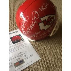 KC Chiefs Greats Autographed Replica Helmet