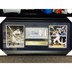 Derek Jeter All Time Yankees Hit King Photo & Game Ticket Presentation