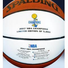 Warriors 2017 NBA Champions Spalding White Panel  Basketball