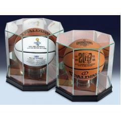 Warriors 2017 NBA Champions Commemorative Two Ball Set & Display Cases