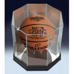 Warriors 2017 NBA Champions Most Consecutive Playoff Wins Game Ball and Custom Display Case