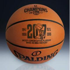 Warriors 2017 NBA Champions Most Consecutive Playoff Wins Game Ball