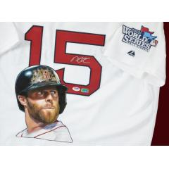 Dustin Pedroia Signed Jersey with Hand Painted Image