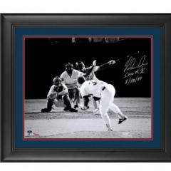 Nolan Ryan Signed Framed Photo of Strikeout No. 5,000