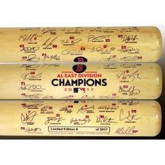 Red Sox 2017 AL East Champs Team Signature Bat