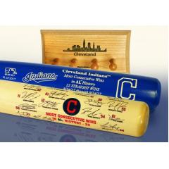 Indians 22 Consecutive Wins Special Two Bat Set & Display Rack