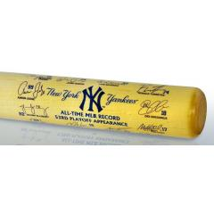 Yankees MLB Postseason Record Team Signature Bat