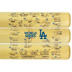 LA Dodgers 2017 World Series Team Signature Bat