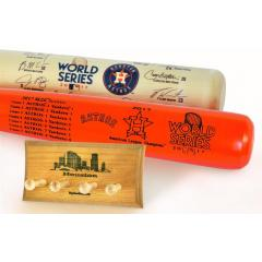 Astros 2017 World Series Two Bat Set with Display Rack