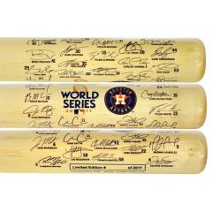 Astros 2017 World Series Team Signature Bat