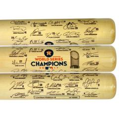 Astros 2017 World Series Champions Team Signature Bat