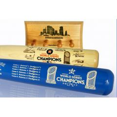 Astros 2017 World Series Champs Two Bat Set & Display Rack